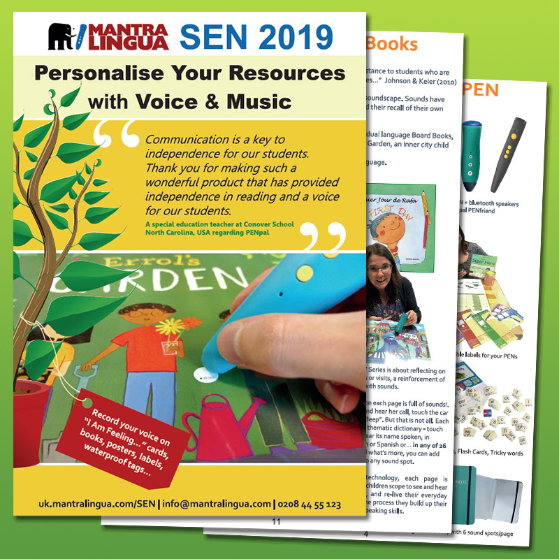 Personal in the nicest possible way – Check Out the great new 2019 SEN Resources Catalogue from  Mantra Lingua - Bilingual books and more